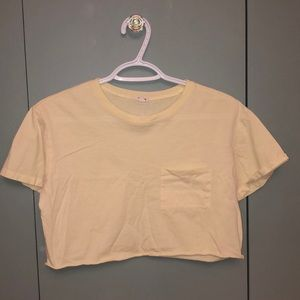 Crop top yellow from garage